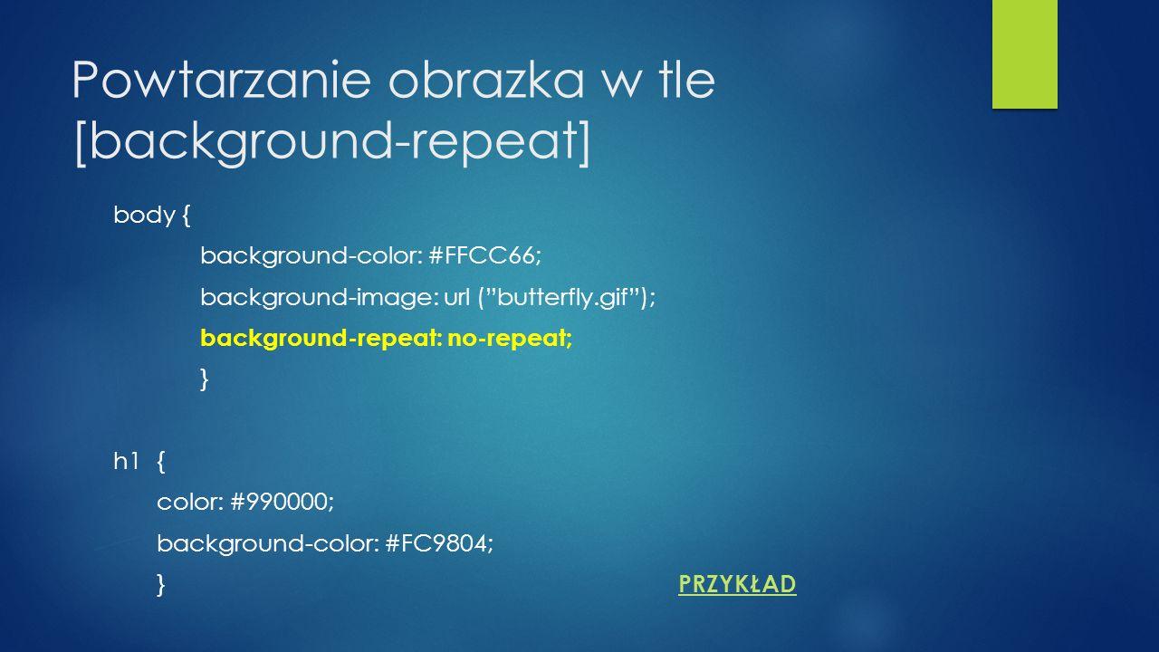 Powtarzanie obrazka w tle [background-repeat]